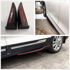 2Pcs Universal Car Side Skirt Rocker Splitters Scratch Resistant Winglet Black