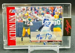 2021 Leaf Pro Set Aaron Rodgers AUTO Green Bay Packers 2/25