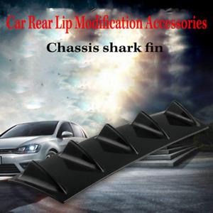 Car Rear Bumper Lip Diffuser 5 Fin Shark Style Back Bumper Spoiler Lip Splitter