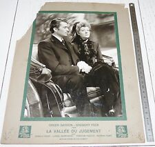 RARE PHOTO CINEMA MGM 1945 LA VALLEE DU JUGEMENT GREGORY PECK GARSON