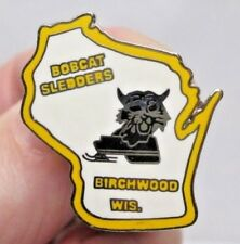 Vintage Bobcat Sledders Pin Birchwood Wisconsin Snowmobile Club