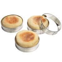 Fox Run English Muffin Rings 4Pc Set - Egg Pancake Biscuit Crumpet Cutter FE
