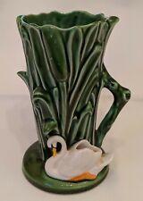 SylvaC Ware Swan Vase Vintage Riverside Small Jug  Posy Bulrushes 4377 England