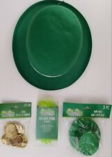 St. Patrick's Day Leprechaun Top Hats, Gold Coins & Light Strings,  Select Type