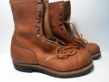 NEW RARE Vintage Men's Red Wing Cap Steel Toe Boots Size 7 D Made In USA