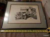 GAIL NIEBRUGGE Pen & Ink lithograph 1 ton Truck McCarthy Alaska Limited Edition