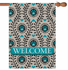 Toland Heart Paws Welcome 28 x 40 Puppy Dog Kitty Cat Paw House Flag