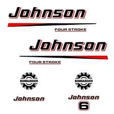 kit stickers JOHNSON 6 cv serie 2 - autocollant pour capot moteur - decals