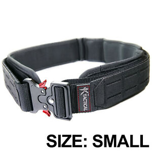 """Tactical Molle Laser Cut Battle Belt Rig Padded Metal Buckle 28"""" - 32"""" S - SMALL"""