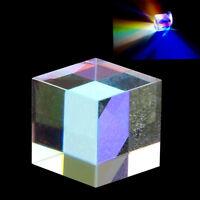 1.5cm Defective Cross Dichroic Prism RGB Combiner Splitter Glass Cube Decoration