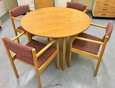 Ercol Round Dining Table and 4 Ercol Chairs