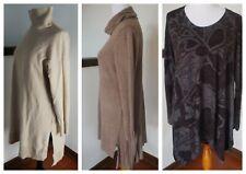 SOFT SURROUNDINGS knit sweater tunic Size Large, hi-lo hem cowl neck U PICK