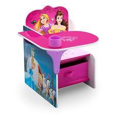 Delta Children Disney Princess Desk with Storage Bin, Kids Activity Desk BELLE