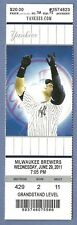 Mariano Rivera Save 580 full season ticket 6-29-2011 Yankees