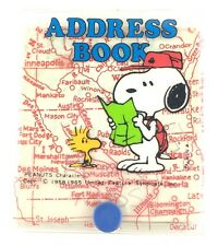 Vintage Peanuts Snoopy Scout Scouting Woodstock Address Book w/ Plastic Cover