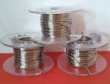 """Pure Nickel Wire 32 gauge ( AWG ) 0.20mm / 0.008""""  20m / 65 ft NON Resistance"""