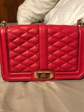 Rebecca Minkoff Love Crossbody Handbag, Pink Leather
