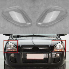 1 Pair Clear Car Headlamp Headlight Lens Cover For Hyundai Tucson 2005 - 2009 !