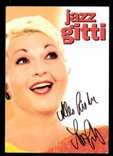 Jazz Gitti Autogrammkarte Original Signiert ## BC 42720
