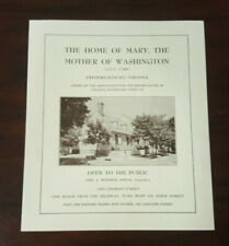 The Home of Mary the Mother of Washington Visitor Brochure Fredericksburg, VA