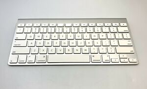 Apple Wireless Bluetooth Keyboard, Model A1314 , White & Silver Sanitized Tested
