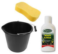 1L Triplewax Car Wash & Wax Shampoo Kit Including 15L Bucket and Jumbo Sponge