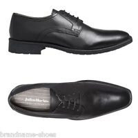 MENS JULIUS MARLOW TIGER MEN'S BLACK LEATHER WORK LACE UP FORMAL DRESS SHOES