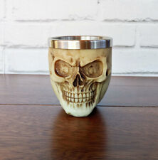 Skull Big Shot Glass Resin Housing With Stainless Steel