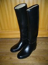 bottes  d'équitation caoutchouc Le Chameau doublées cuir P40 mollet 32 noires