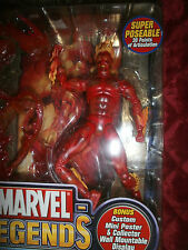 MARVEL LEGENDS HUMAN TORCH WITH HUMAN TORCH MINI POSTER  SERIES 2
