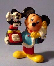 VINTAGE WALT DISNEY MINIATURE MICKEY ON MICKEY PHONE APPLAUSE PVC FIGURE VGC
