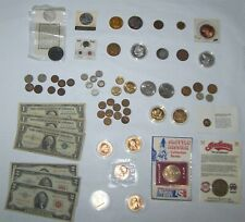 Junk Drawer lot Coins Red Seal Silver Certificates Bills Gold Silver Collectible