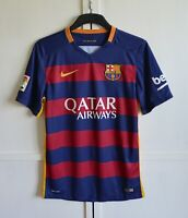 FC Barcelona Spain 2015/2016 Home Football Shirt Soccer Jersey Kit Nike Size S