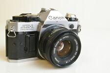 Canon AE-1 Program 35mm SLR Film Camera w/ FD 50mm F1.8 Lens