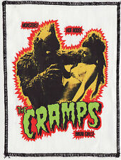THE CRAMPS PATCH LAGOON HORROR MONSTER LUX POISON IVY PSYCHOBILLY GARAGE A6+