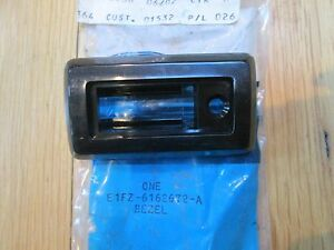 NOS 1981 FORD ESCORT FRONT SEAT BACK LATCH HANDLE BEZEL BLACK