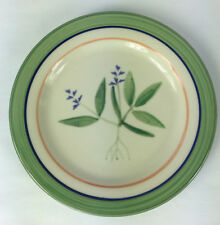 Hartstone Pottery Mount Vernon Herb Salad Luncheon Plate Hand Painted Stoneware