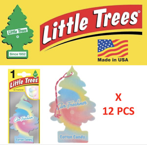 LITTLE TREES Cotton Candy Air Freshener Tree 10282 1UP-10282 MADE IN USA 12 pcs