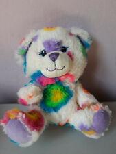 Build a Bear Teddy White Rainbow Smallfrys Plush Soft Stuffed Animal Toy Doll