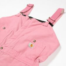 RARE Pink CARHARTT Quilted Workwear Overalls | Size 16 | Chore Dungarees Vintage