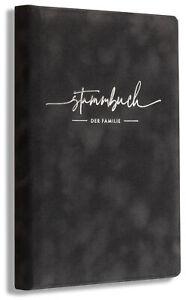 Stammbuch Grau Grise Familienstammbuch Hochzeit Standesamt, personalisierbar