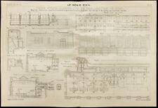 Plan de l'Usine Hydro-électrique de Trollhattan. 1909, Suède.