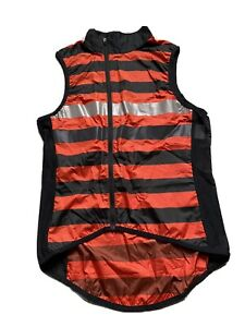 NEW RAPHA BREVET GILET BLACK N RED SIZE SMALL ROADWEAR LIMITED EDITION