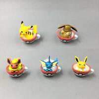 Pokemon GO Pikachu Eevee Vaporeon Flareon Jolteon 5 pcs Figures in Pokeball Cup