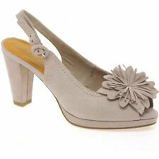 MARCO TOZZI DELTA FLOWER TRIM HIGH HEELED SHOES Taupe UK 7 EU 40 LN18 55