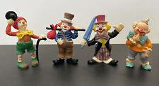 Vintage Resin Hand Painted (?) Clown Figurines (Set Of 4)