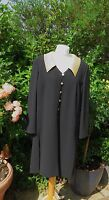 STUNNING FRANK USHER BLACK AND GOLD UNLINED OVER DRESS/JACKET SIZE 18 CHEST 44