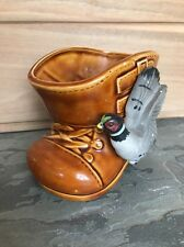 Vintage Ceramic Pheasant Planter Bird Figurine Rubens Japan Hunting Boot