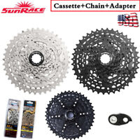 SunRace 8 9 Speed 11-40T Cassette MTB Bike Freewheel Chain Cogs fit Shimano SRAM