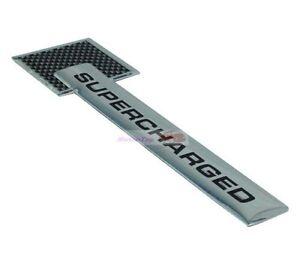 Carbon fiber Turbo Charger SUPERCHARGED Engine Emblem Badge Sticker For Jaguar